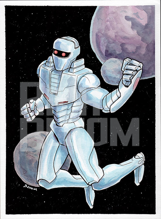 ROM: Spaceknight - Watercolor and ink