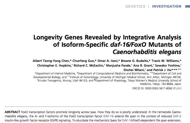 Albert chen and Patrick Hu daf 16 longevity paper 2015