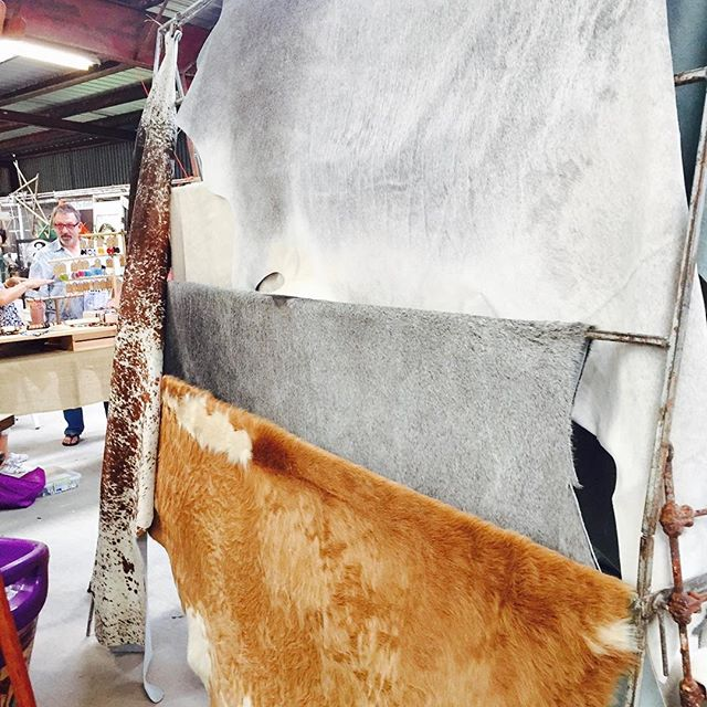 Gorgeous grey and champagne hides at the Red Potato Market Show in Simonton fri,sat oct 21-22 #redpotatomarket  #redpotatomarketdays  #houston  #katytx  #texascowhides