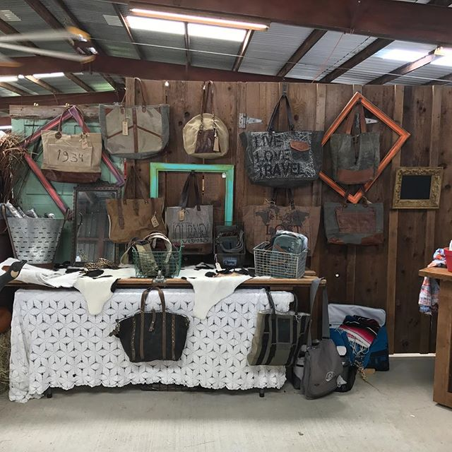 Upcycled canvas bags. Red Potato Market Show in Simonton, 10/21 & 22 #redpotatomarket  #redpotatomarketdays  #katytexas #canvasbags