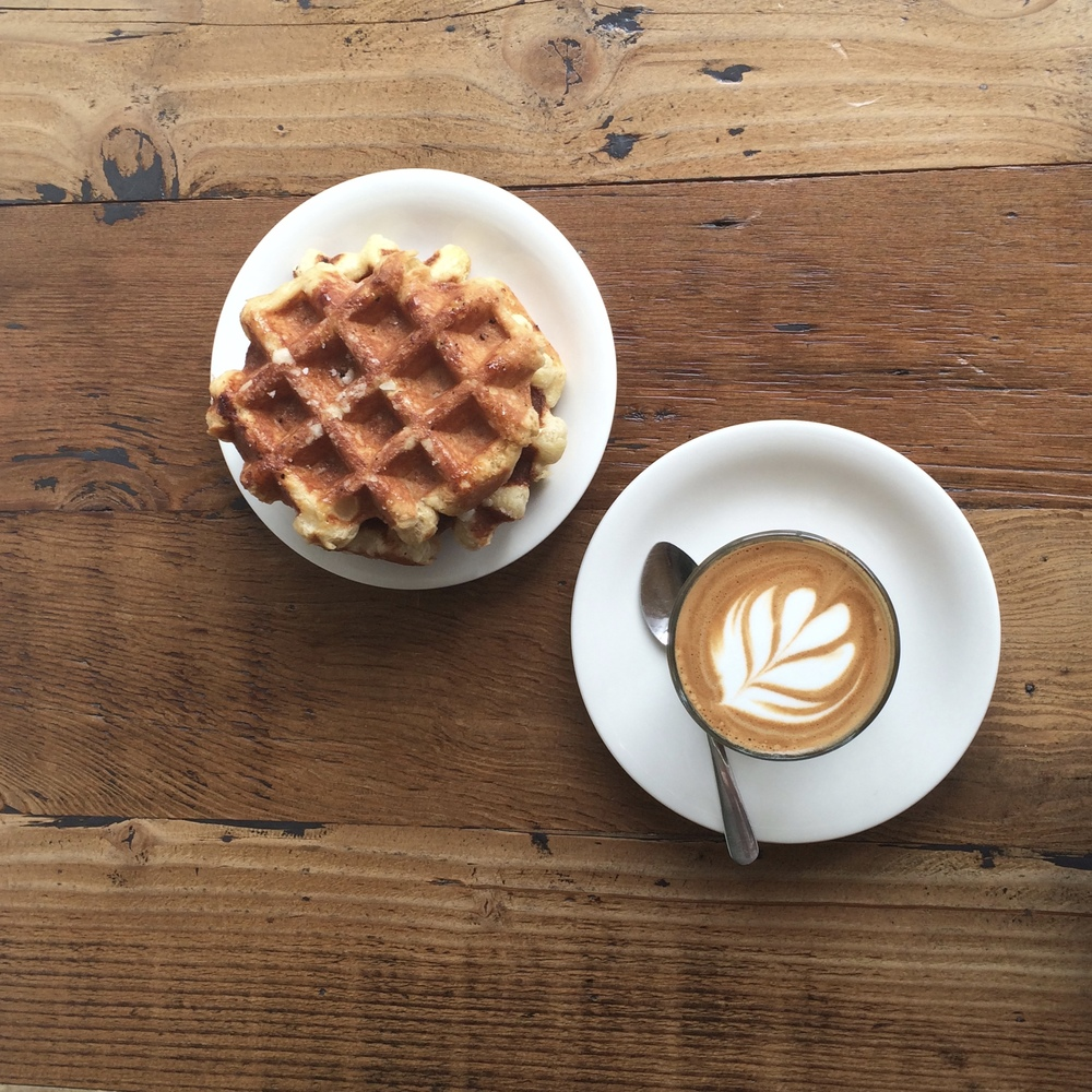 Cortado and Belgian Waffles
