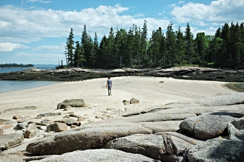 Hands-down our favorite hike. Barred Island at low tide.