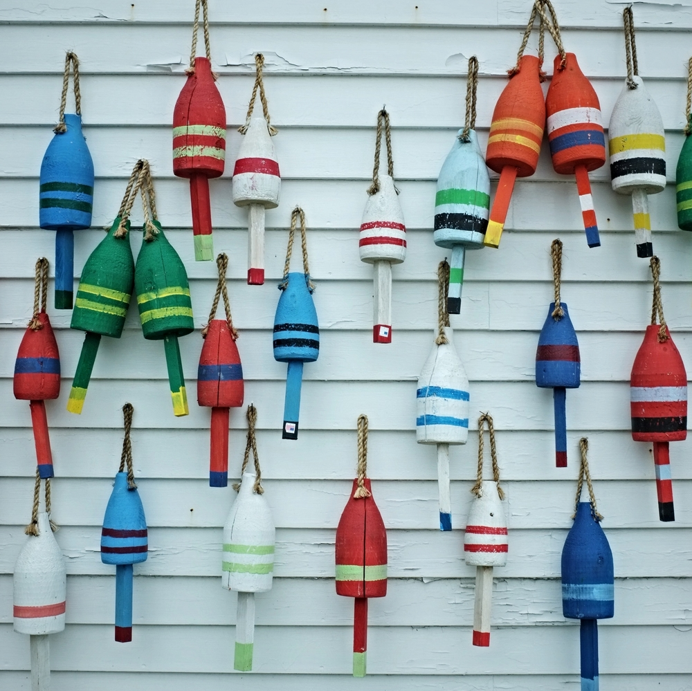 Lobster buoys in Stonington.