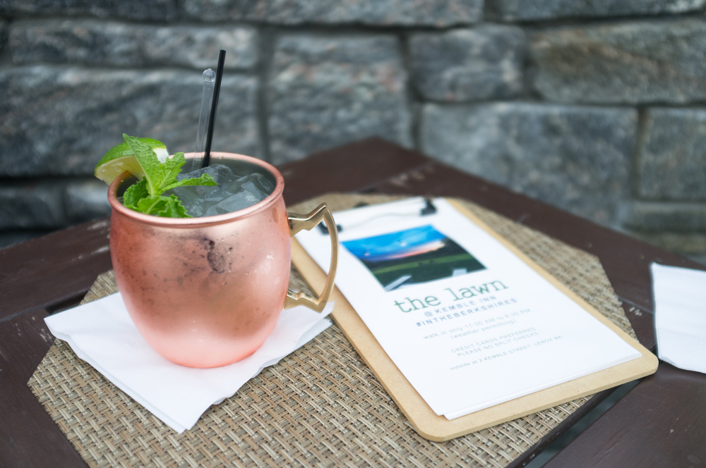 My favorite cocktail on their menu - the Berkshire Mule.