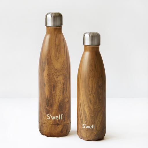 Stainless steel water bottles by S'well. Photo by Birgit Marko.