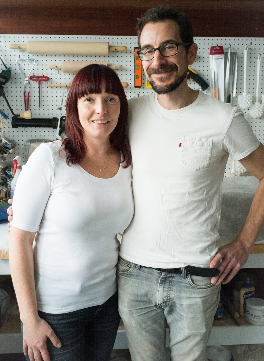 Owners and ceramists Abigail & Eric Smallwood