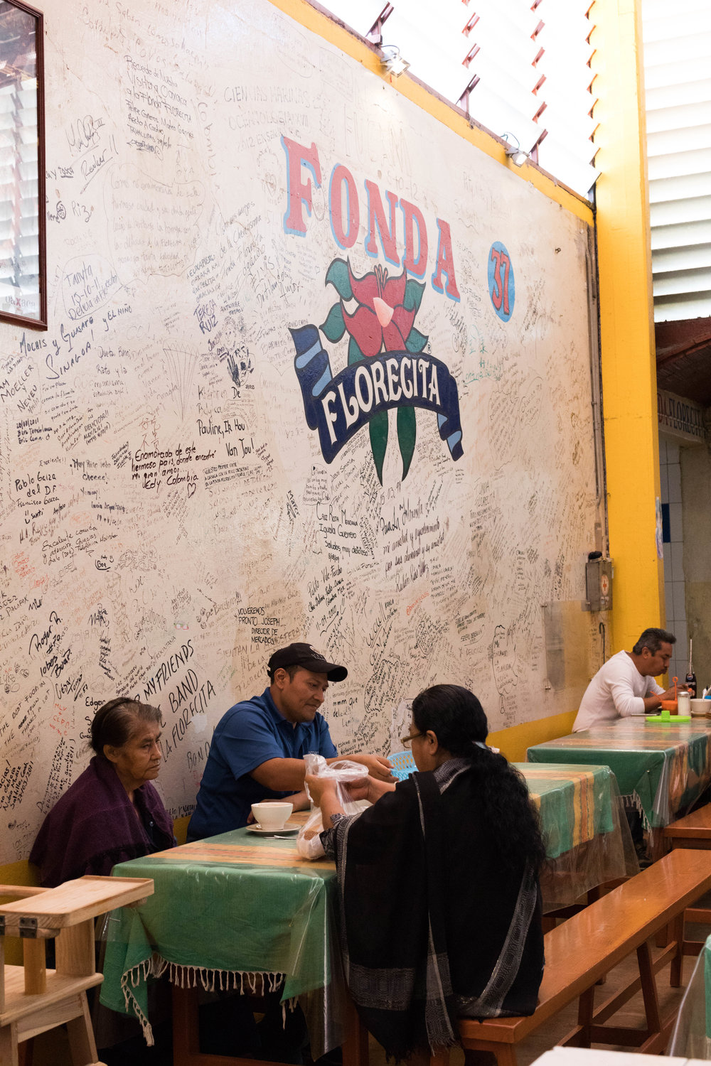 Locals eating at Fonda Florecita