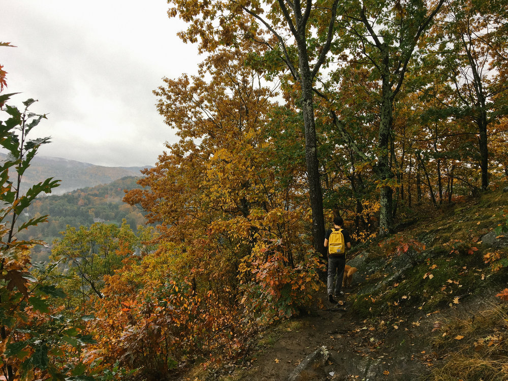 Making our way down Mount Tom in Woodstock, VT.