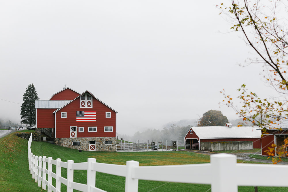 A gorgeous barn we stumbled upon on the backroads to Woodstock, Vermont.
