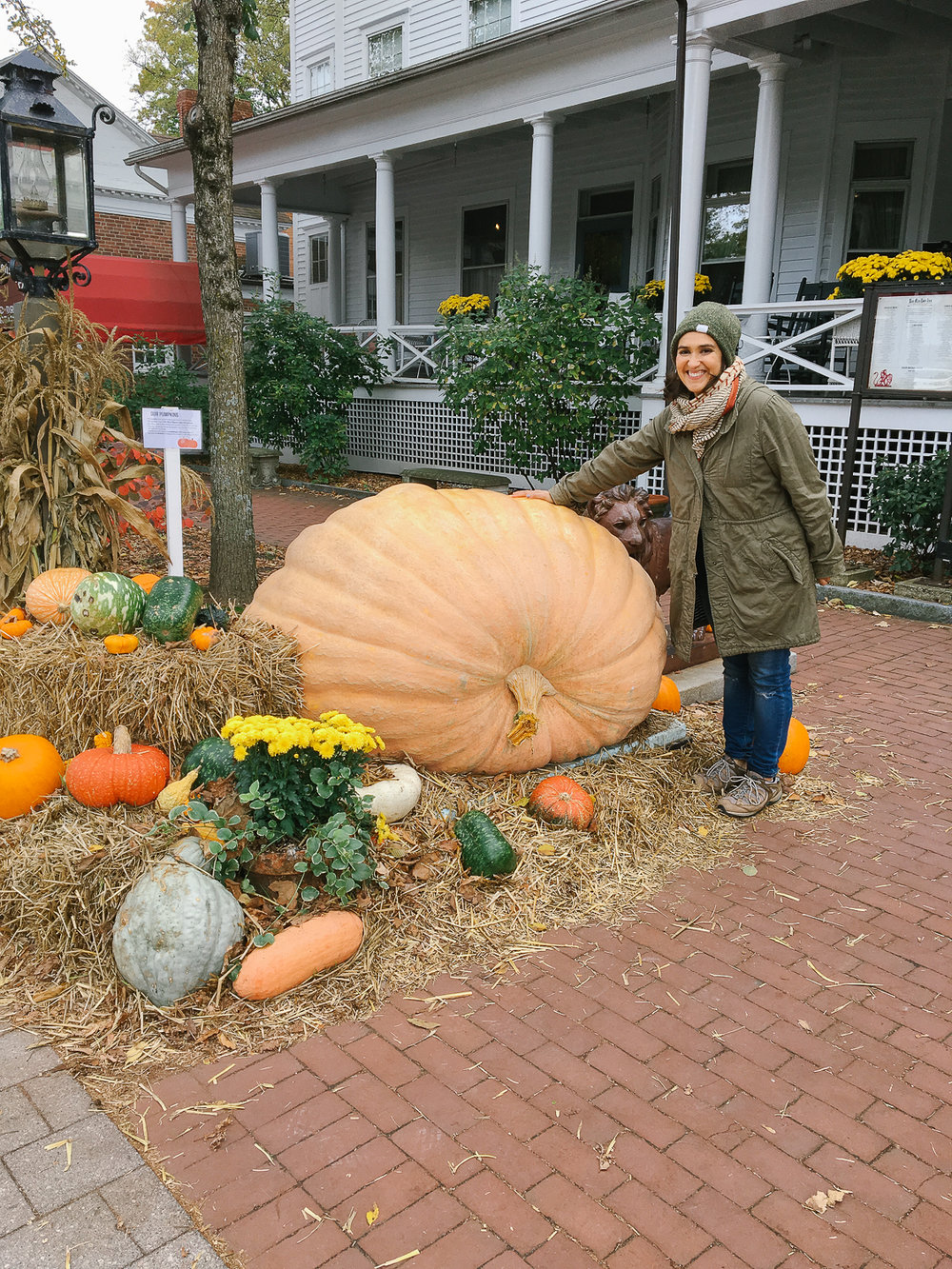 Holy giant pumpkins at the Red Lion Inn.