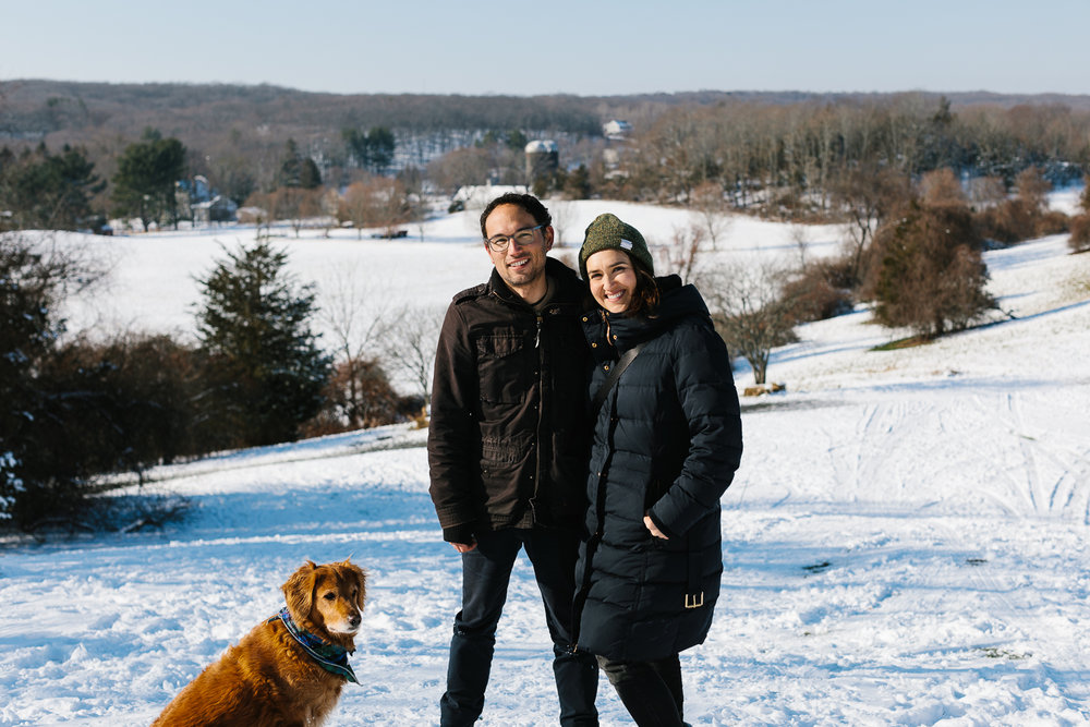Family photo op at Chase Farm. Thanks to the skier who took this!