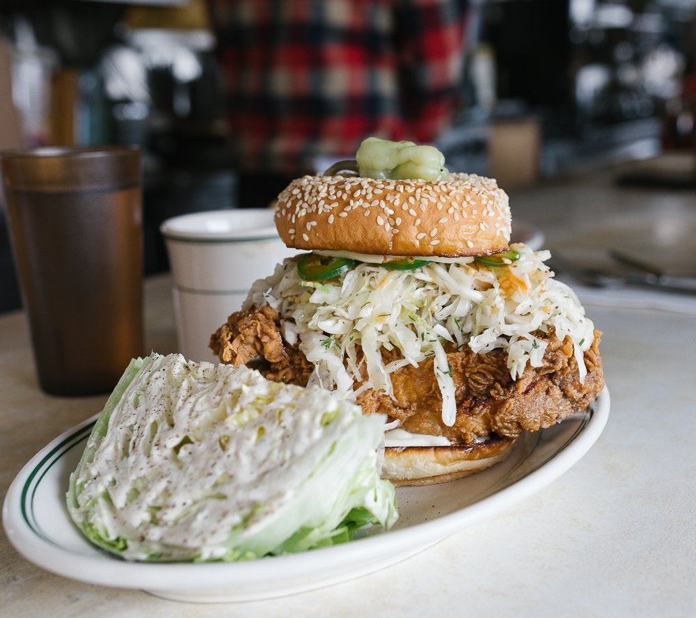The fried chicken sando at Palace Diner. Adam can't stop talking about it. I ate the wedge salad because I always need greens. In this case, iceberg qualified as greens