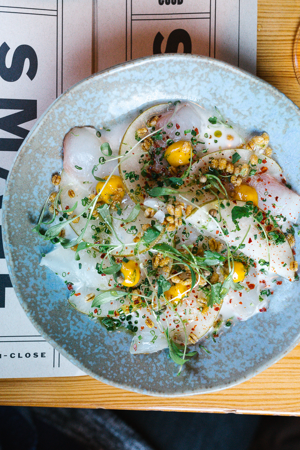 Fluke Crudo at Central Provisions.