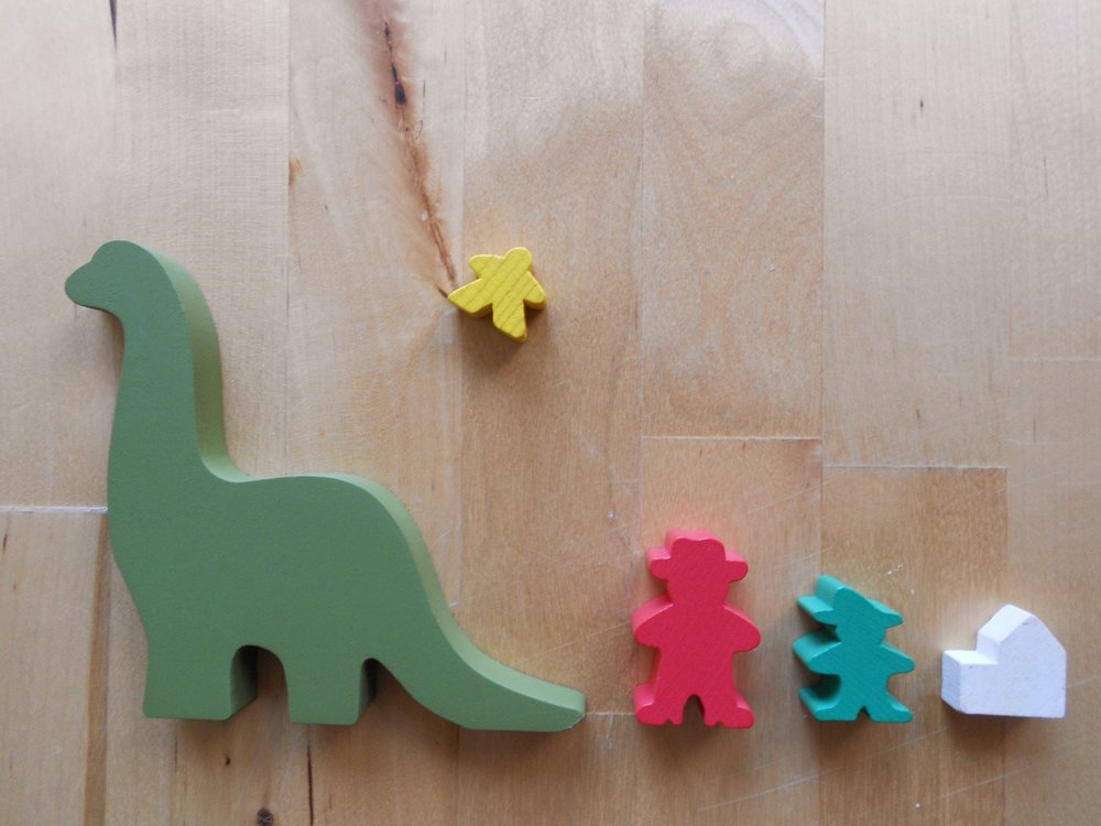 In the world of board gaming, the game pieces are called Meeples. At heart board gaming is a truly adorable hobby.
