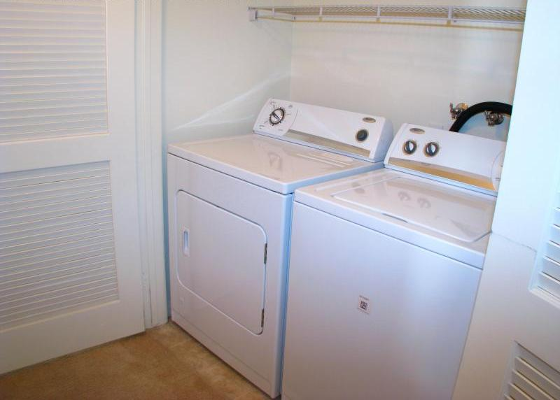 Washer and Dryer in apartment at Temecula Creek Villas