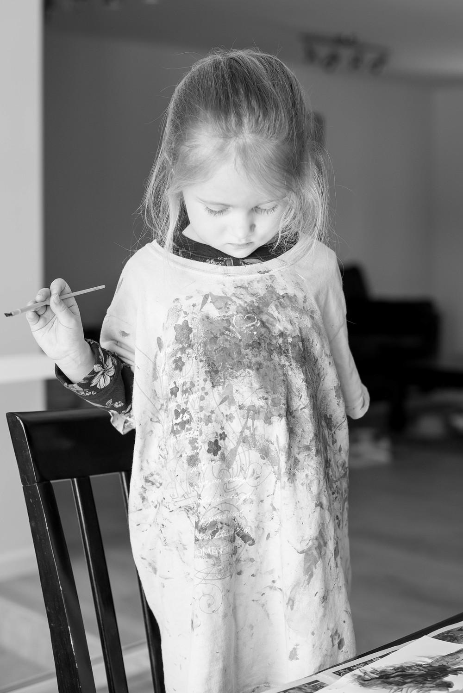 Ava sporting her paint shirt!!