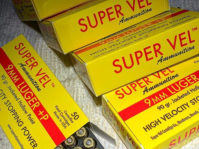 Just picked up some @supervel smoking hot 90grn +P JHP's. The original classic JHP now infused with Cor-Bon founder Peter Pi's signature blend and Lee Jurass' original JHP design make this ammo tried and true. Move over Federal, look out Speer, #SuperVel is back and better than ever baby! Thanks Mick! . . . #SuperVel #JHP #Ammo #bullets #theoriginal #showstopper #stoppingpower @carrytrainer #carrytrainer