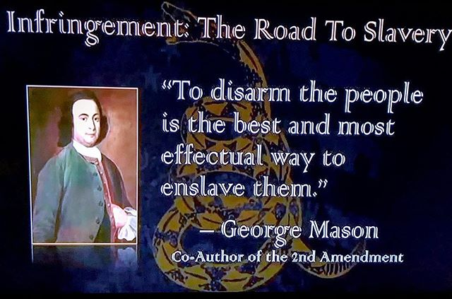 Our founding fathers here in the U.S. got it RIGHT over 200+ yrs ago. Why can't we today? Guns are for saving lives... not taking them. Without guns we ultimately give complete control over to the government.  And if you think that's a good idea, we only need to look to the Holocaust or the Soviet Union  to see where that road leads. . . . #America #UnitedStates #foundingfathers #liberty #freedom #guns #militia #thepeople #2ndAmendment #shallnotbeinfringed #guncontrolisdeath #democide #slavery #enslavement #oppression #tyranny #MarkPassio #firearms #arms #firearm #gun #constitution #billofrights #government #ussr #sovietunion #russia #facts #truth #georgemason