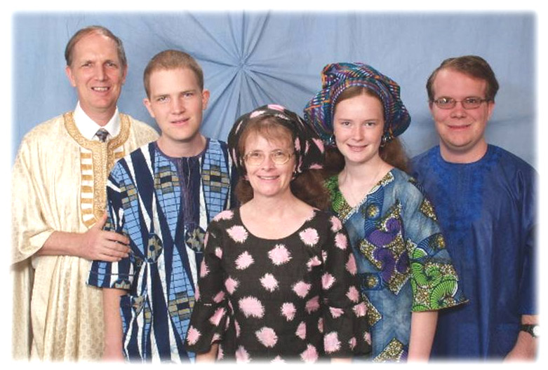 Pastor David and Joyce Erber and their children, Luke, Jonathan and Naomi  LCMS Missionaries Gambia , Ghana , Liberia , Nigeria ,  Sierra Leone , West Africa