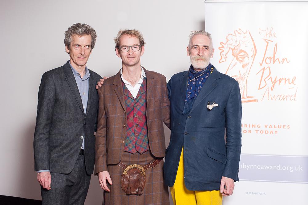 Peter Capaldi, Hamish Matheson and John Byrne