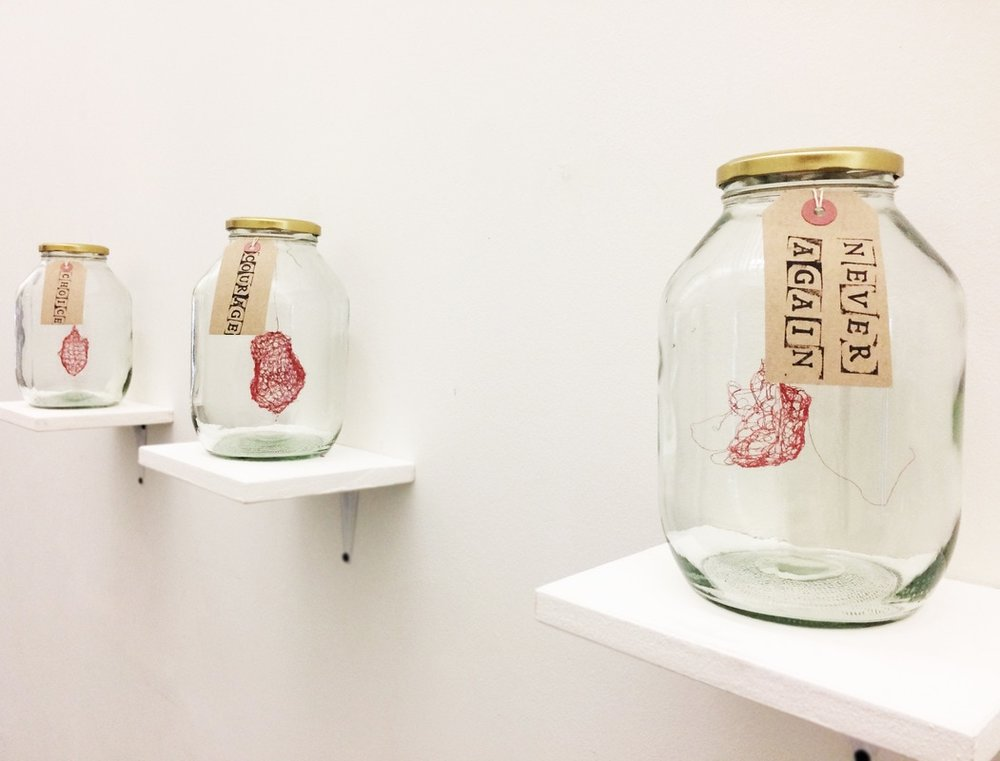 Chandelle Waugh, Bottled It, instalation.JPG