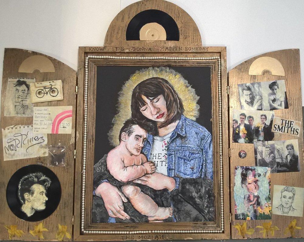 Rosie Wilson, Morrissey Shrine The Mozziah, painting.jpg