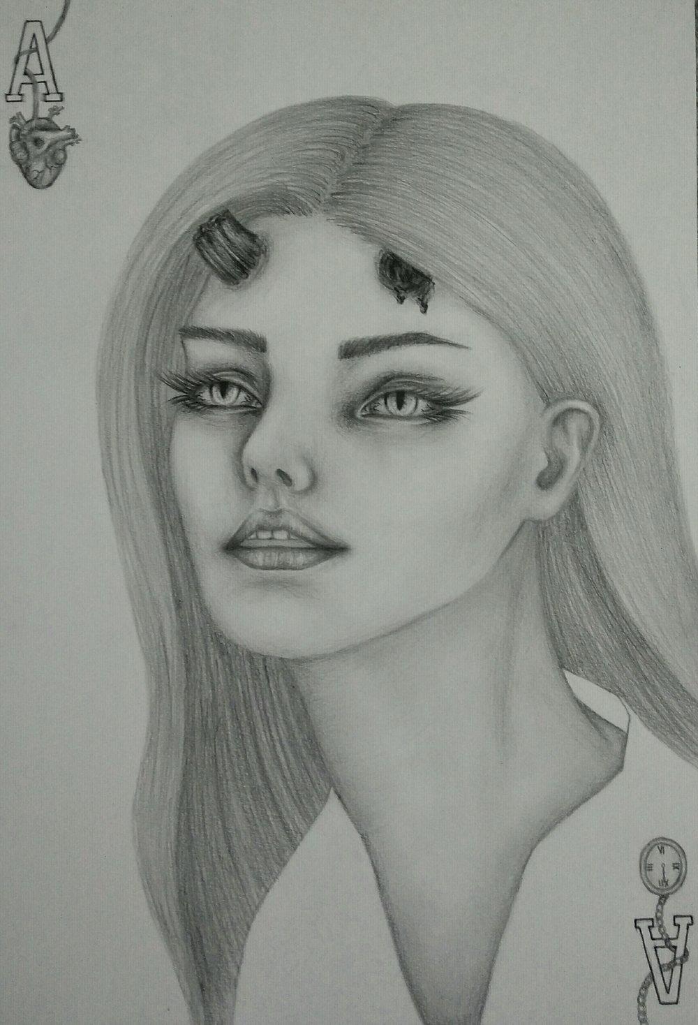 Soraya Sadeghpoor, Ace of Life, drawing.jpg