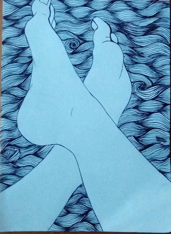 Lauryn Ross, Ocean of Sadness, drawing.jpg