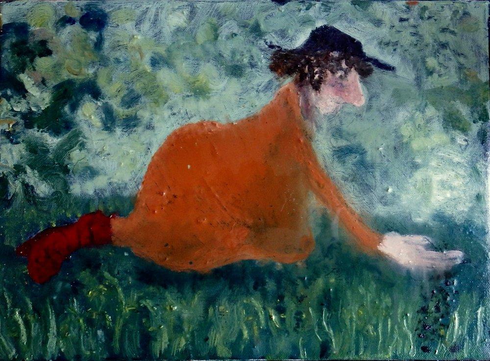 Annie Sprinkled Seeds. Oil on Canvas. Izzy Thomson. 2017. jpg.jpg