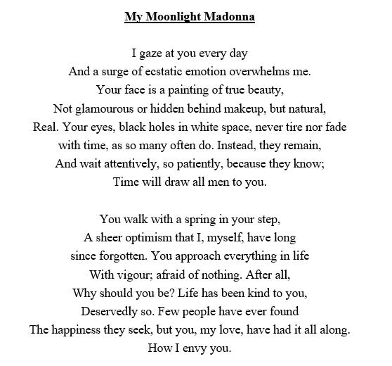 My Moonlight Madonna The John Byrne Award