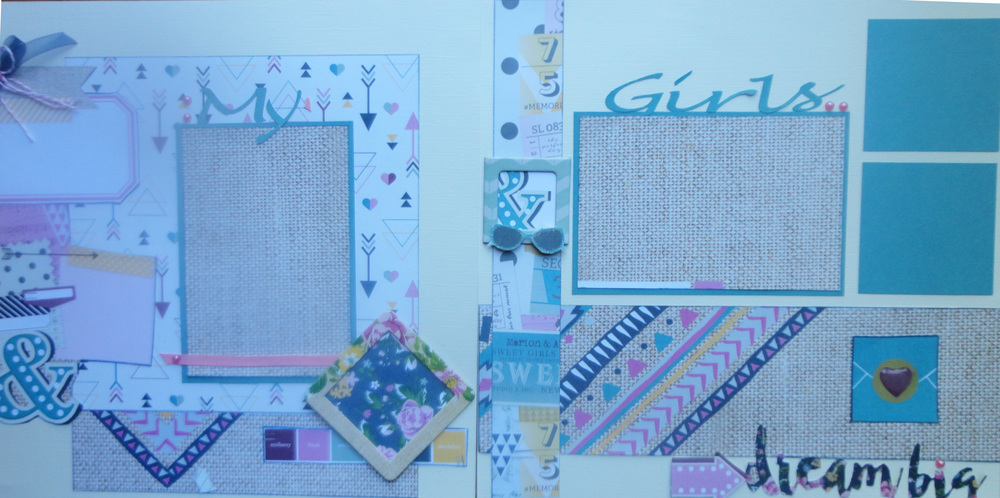 "This is another kit that I made for the store.  I used the Simple Stories collection, ""So Fancy"".  I like to use the Simple Stories papers and cut them apart to use parts of the papers as embellishments.  Often, people come in to the store and are not sure how to use some of the papers that have a lot of different elements on them."