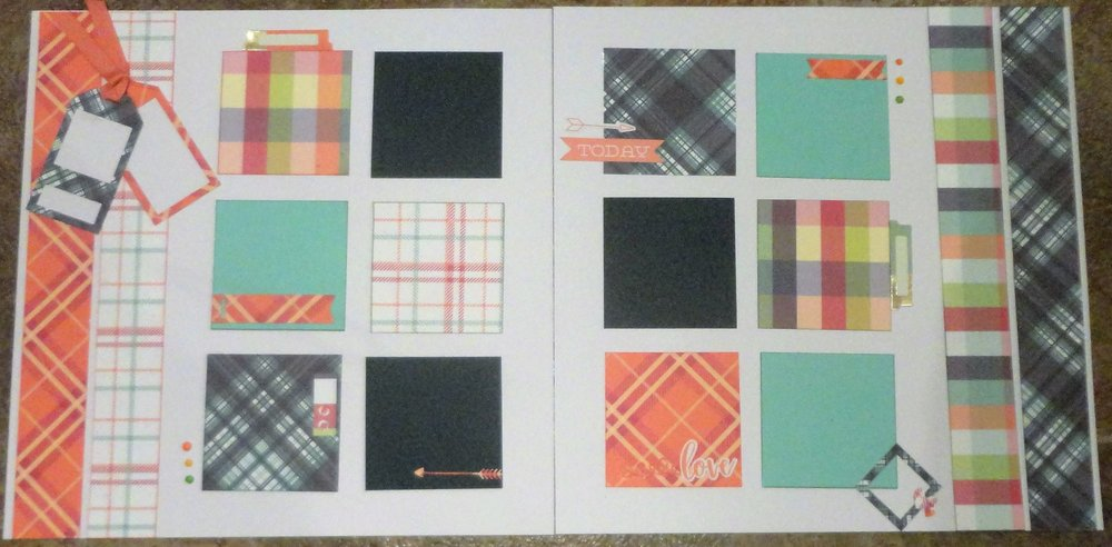 "I love the Photo Play Collection ""Mad for Plaid"" and like to mix the plaids to use with photos that have several colours."