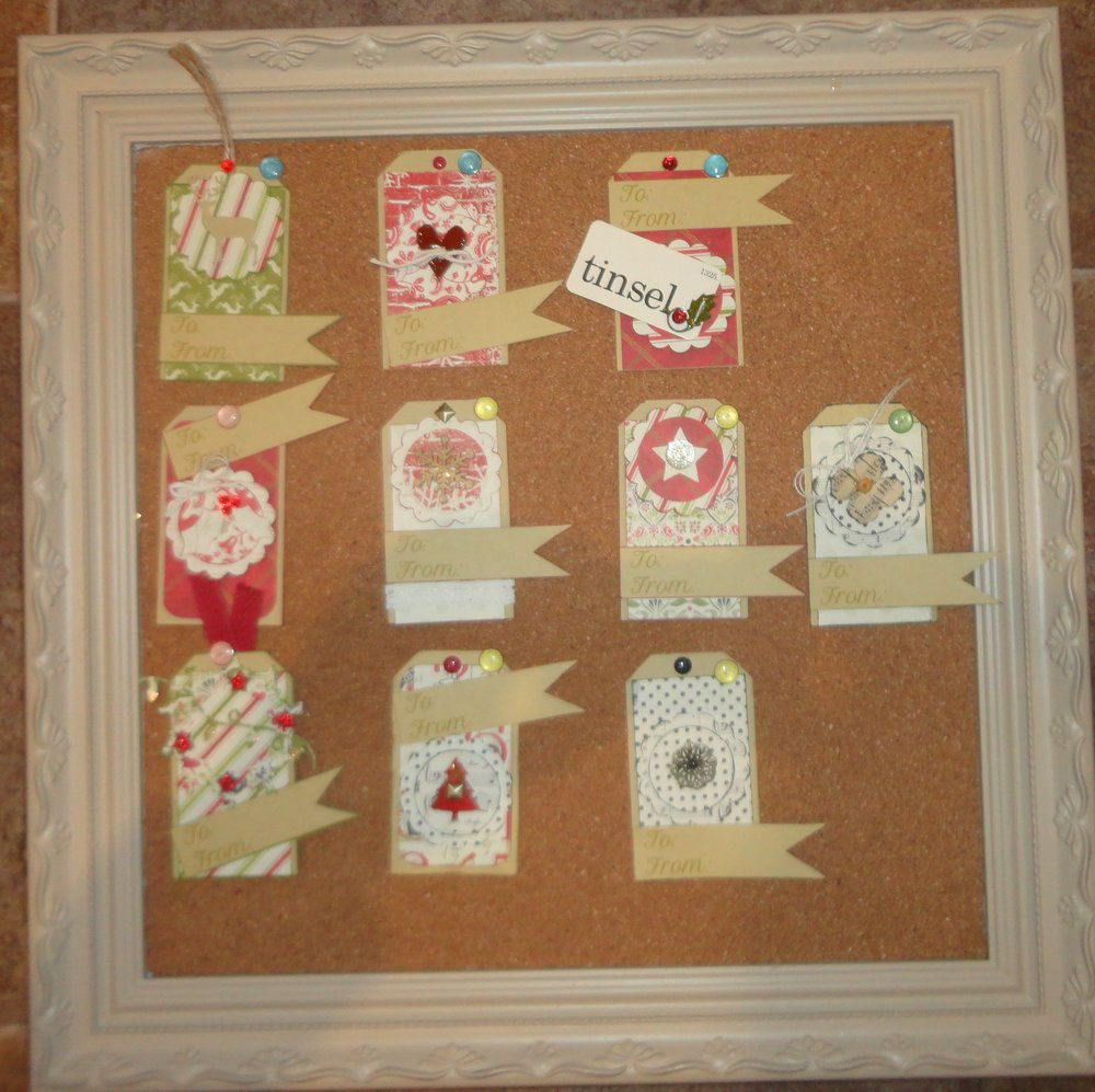 A set of Christmas Tags for a class at SHD using the Authentique Christmas papers