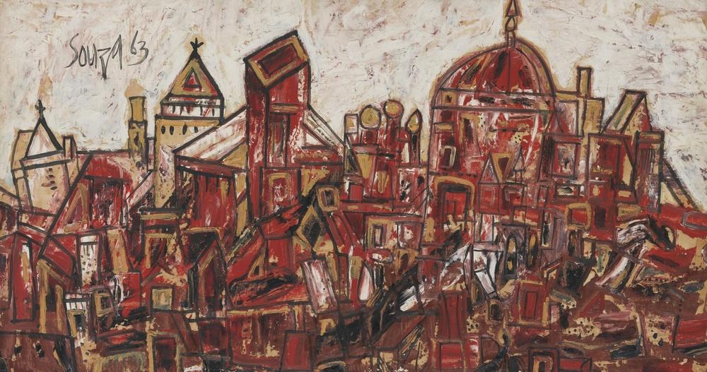 F.N.Souza 'Untitled (Landscape)', 1963.