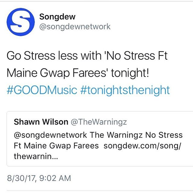 """Shout out too @songdewnetwork for the love!!! """"No Stress"""" is still that record for the SUMMER!!!! #theneverendingstory"""