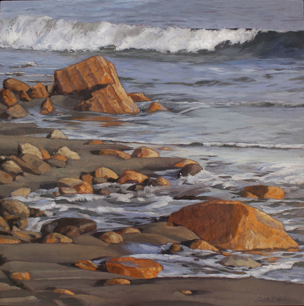 Refugio Tidal Surge, 12 x 12, oil on board. Contact   Waterhouse Gallery