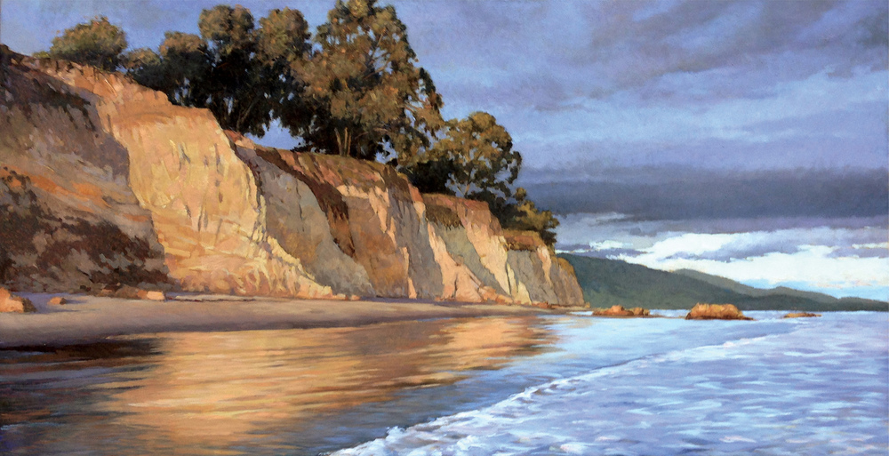 Golden Hour in Santa Barbara, 11 x 22, oil on board.  SOLD