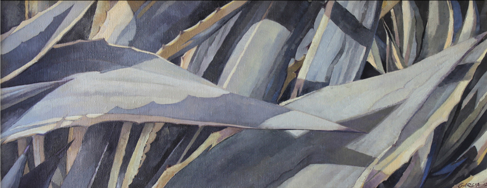 Variegated Agave, 12 x 30, oil on board. Contact   Waterhouse Gallery  SOLD