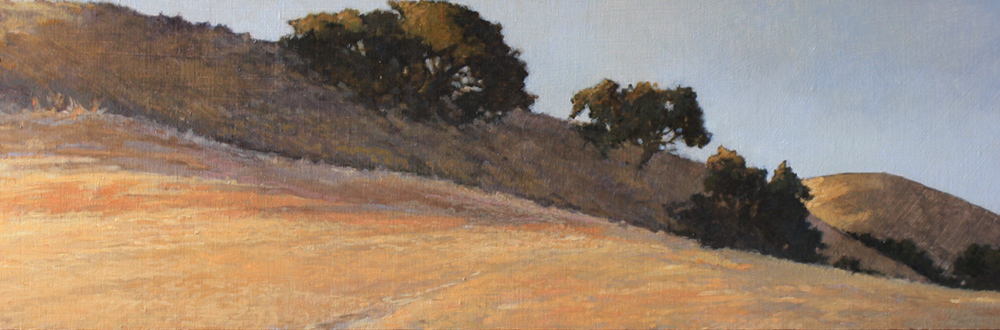 Soft Valley Light, 8x24, oil on linen, sold.