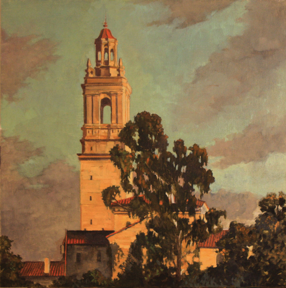 St Anthony's Seminary, 16x16, 12x12, oil on board, sold.