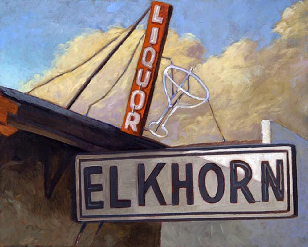 Elkhorn, 8x10, oil on board, sold.