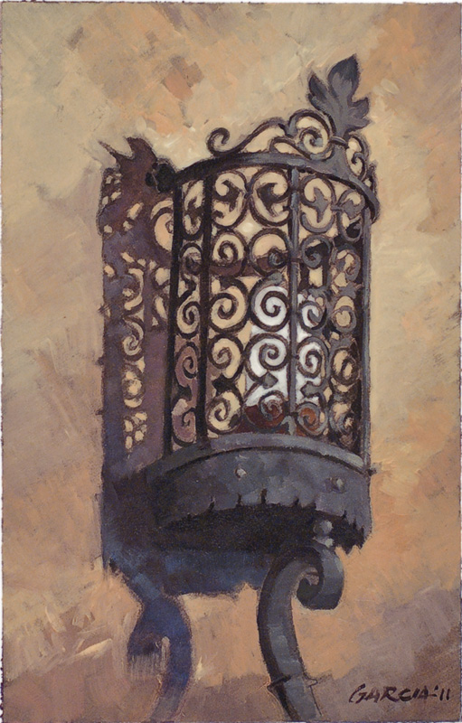 Architectural-Design-of-Reginald-Johnson Light, oil on paper, sold.