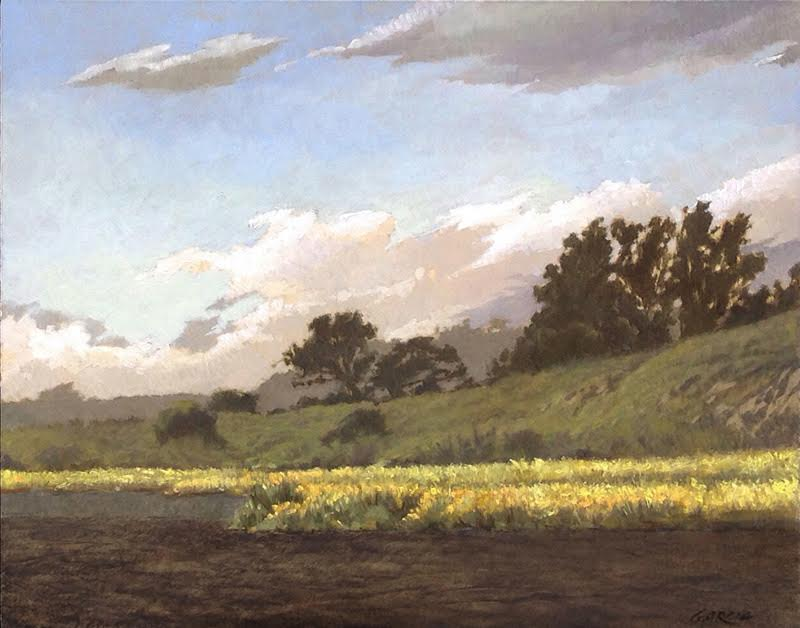 Mustard Fields Near Lompoc, 11x14, oil on board. available at  Waterhouse Gallery   SOLD