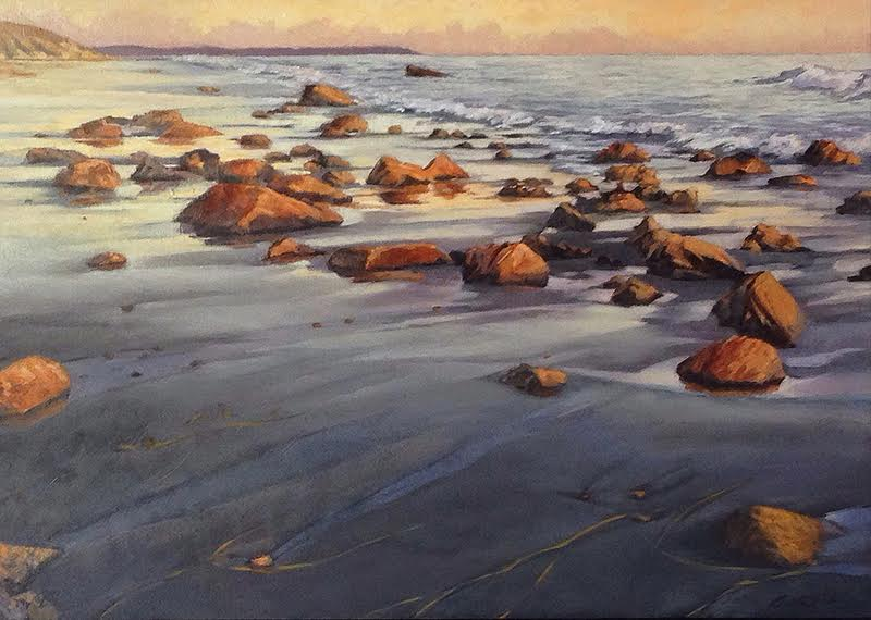 Shimmering Sand, 10 x 14, oil on board. Contact  Waterhouse Gallery   SOLD
