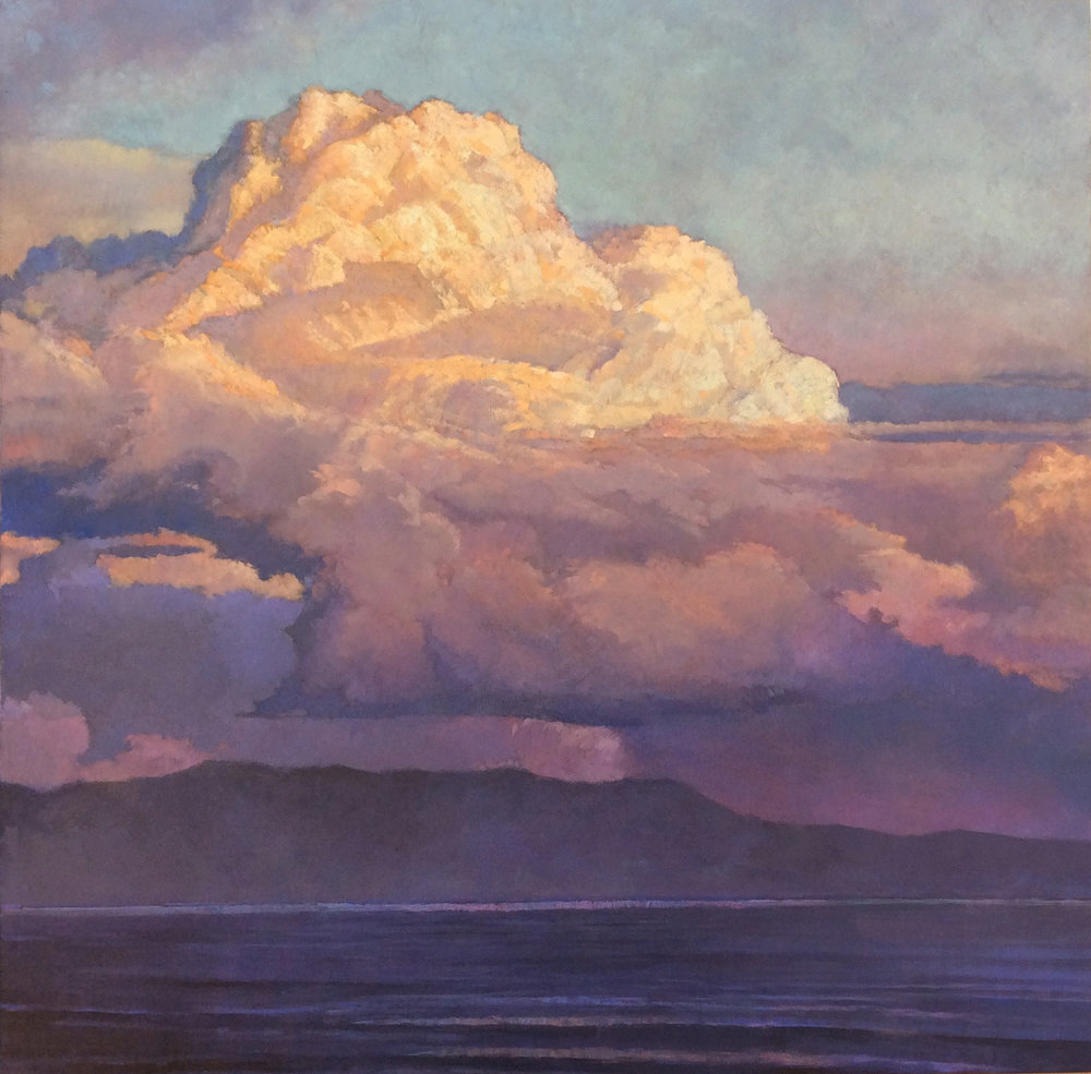 Thunderheads over Channel Islands, 30x30, oil on canvas. Contact   Waterhouse Gallery