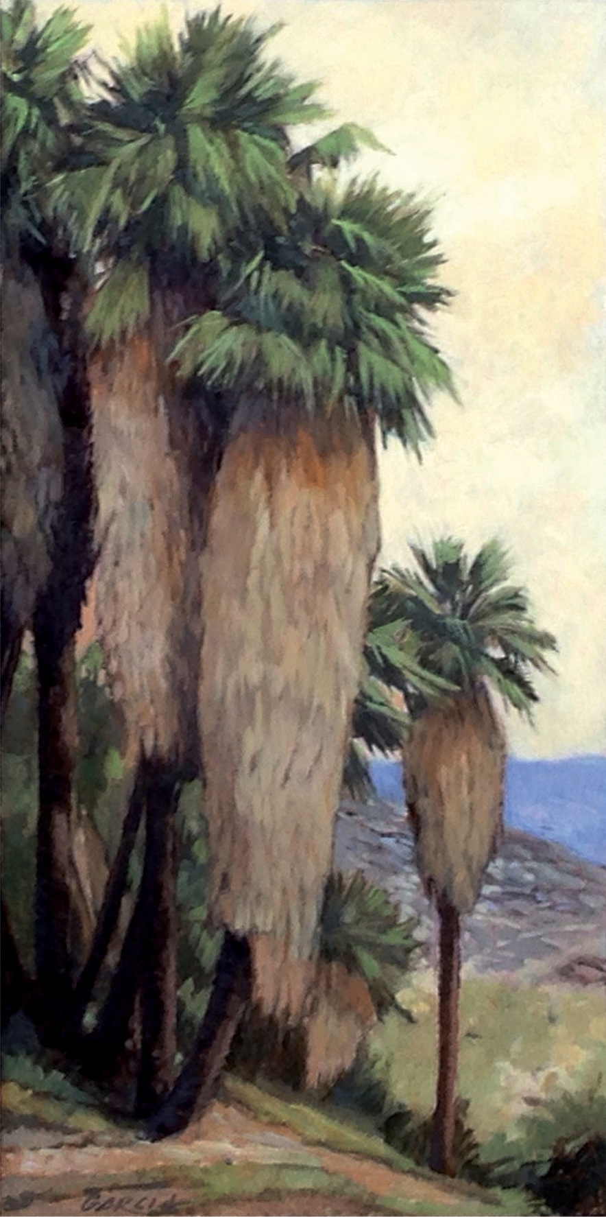 Palm Canyon, 12 x 6, oil on board. Contact  Tartaglia Fine Art