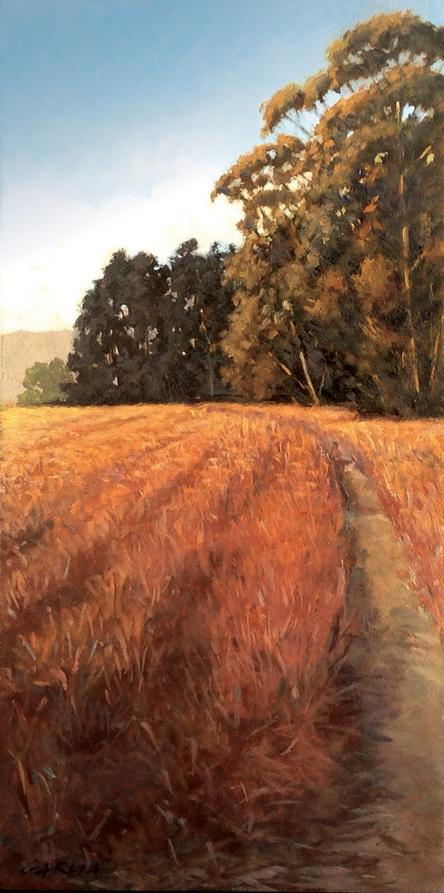 Trail to More Mesa, 12 x 6, oil on board. Contact  Tartaglia Fine Art