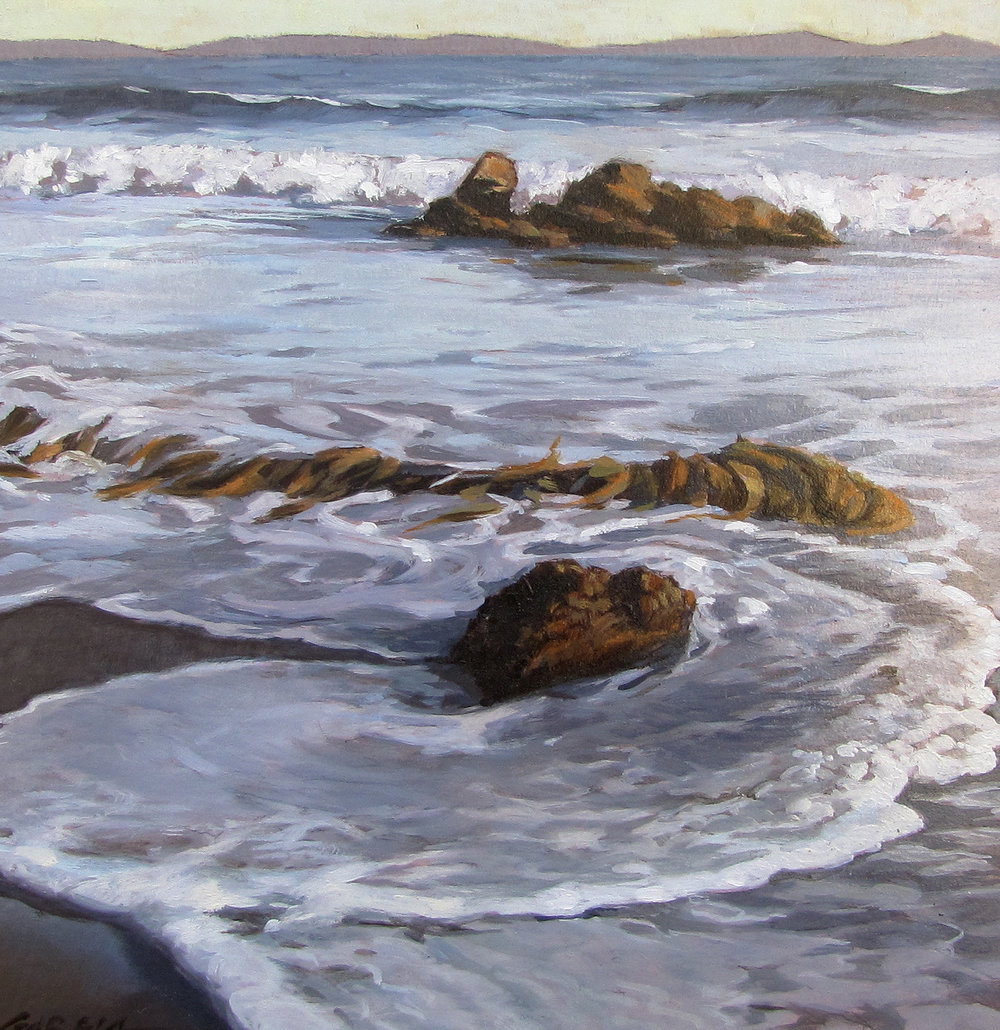 Kelp Washes, 8 x 8, oil on board. Contact  Tartaglia Fine Art