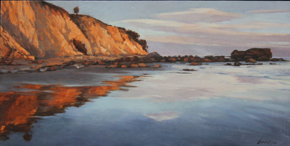 Shoreline Mirror, 6x12, oil on board. available at  Waterhouse Gallery   SOLD