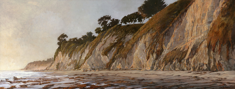 Kelp on Shoreline Beach 11x29, oil on board,  available at  Waterhouse Gallery